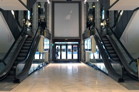 Returning a Knightsbridge Store's escalator hall to a former glory