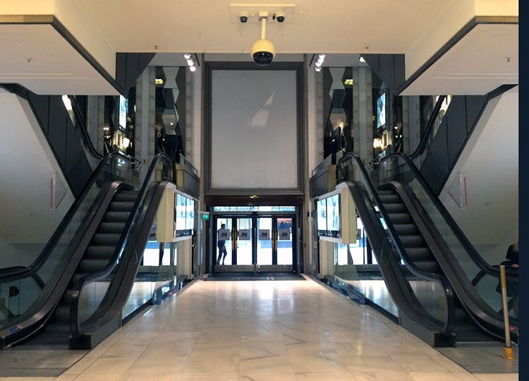 Panels and detailing for escalator hall, Knightsbridge store, London