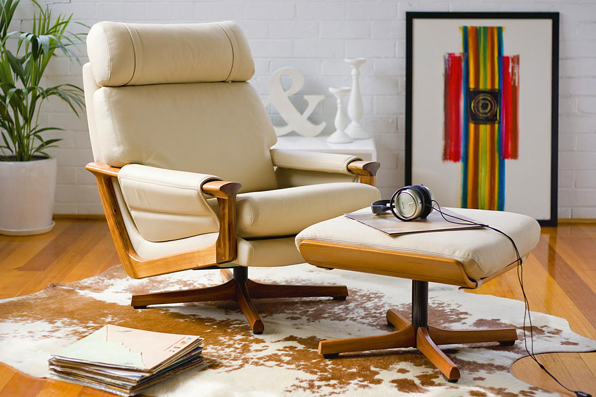 Old design, new technology - a Tessa T21 chair and footstool for the contemporary market.