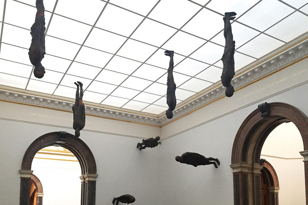 A visit to Antony Gormley's exhibition at The Royal Academy which explores the dimensions of space and the human body